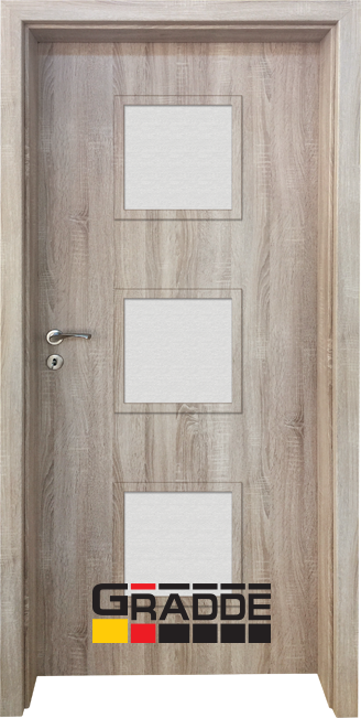 Интериорна врата Граде, модел Bergedorf, Дъб Вераде