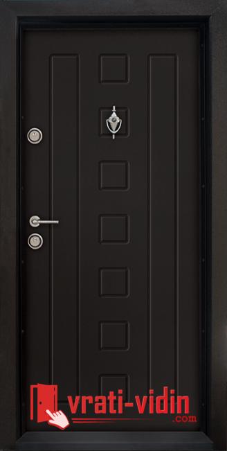 Блиндирана входна врата модел T-712, цвят Африка