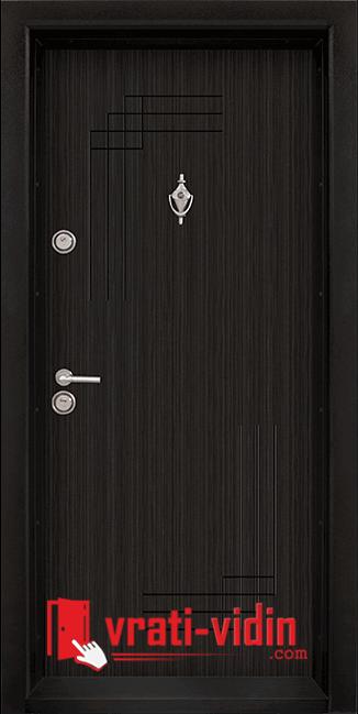 Блиндирана входна врата, модел Т-111 Черна перла