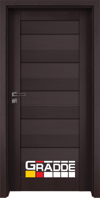 Интериорна врата Граде, модел Aaven Voll, Орех Рибейра