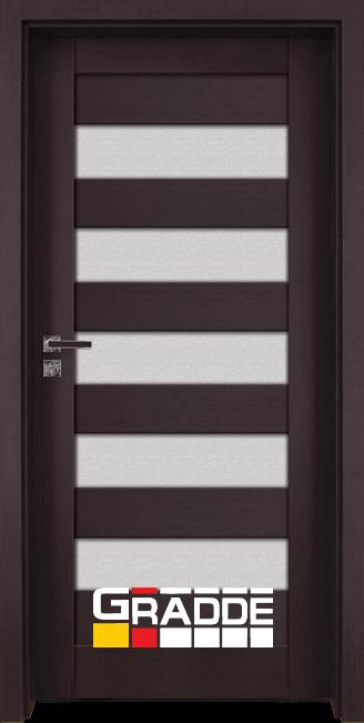 Интериорна врата Граде, модел Aaven Glas, Орех Рибейра
