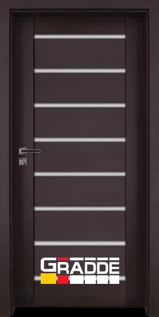 Интериорна врата Граде, модел Axel Glas, Орех Рибейра