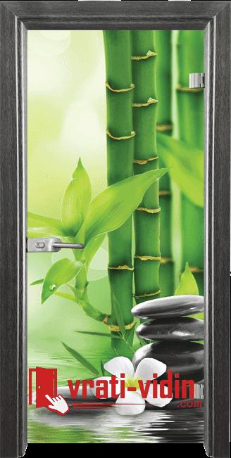 Стъклена интериорна врата, Print G 13-9