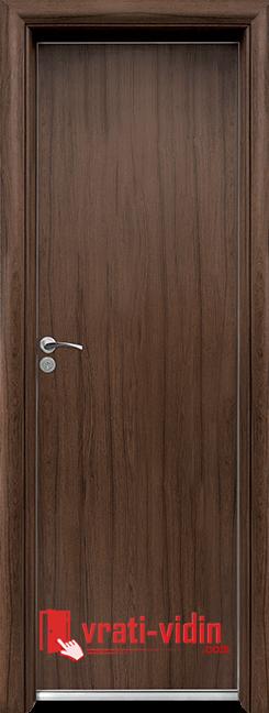 Алуминиева врата за баня – Standart, цвят Орех