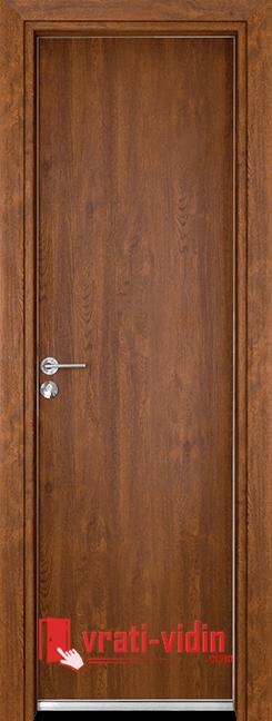 Алуминиева врата за баня – Gama, цвят Златен дъб