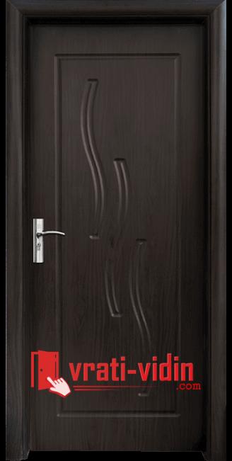 Интериорна HDF врата модел 014-P, цвят Венге