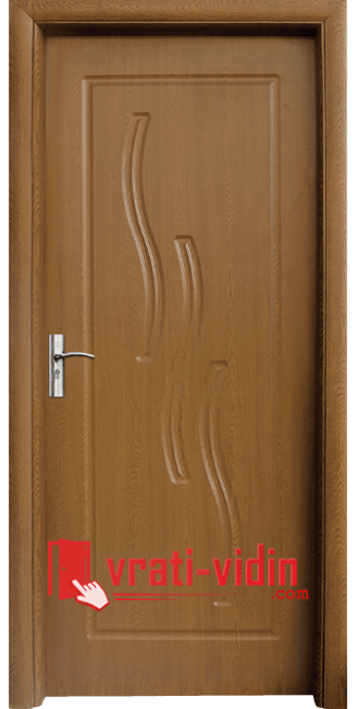Интериорна HDF врата модел 014-P, цвят Златен Дъб