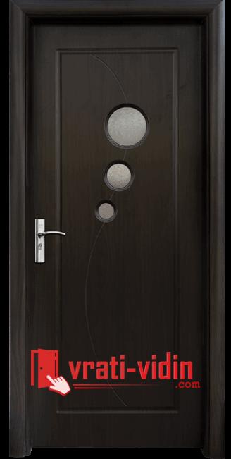 Интериорна HDF врата модел 017, цвят Венге