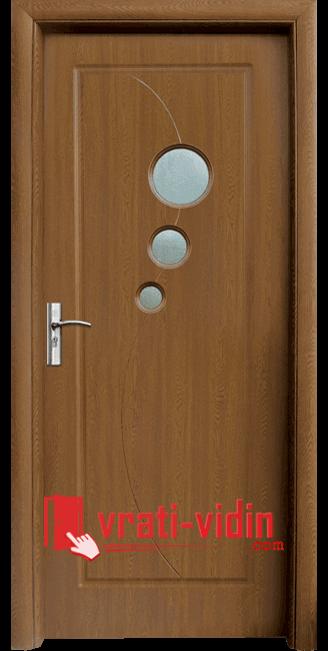 Интериорна HDF врата модел 017, цвят Златен Дъб