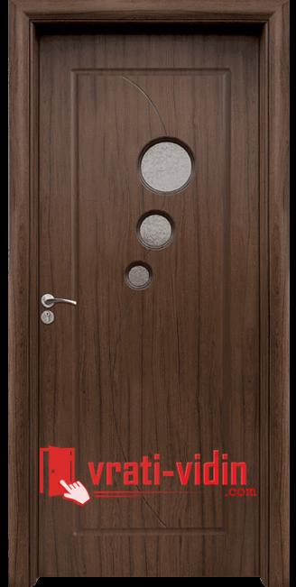 Интериорна HDF врата модел 017, цвят Орех