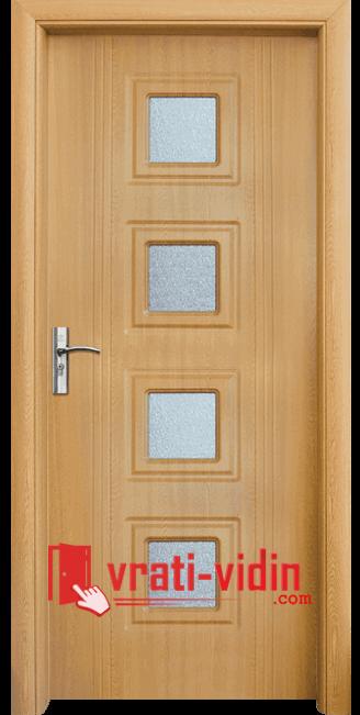 Интериорна HDF врата модел 021, цвят Светъл Дъб