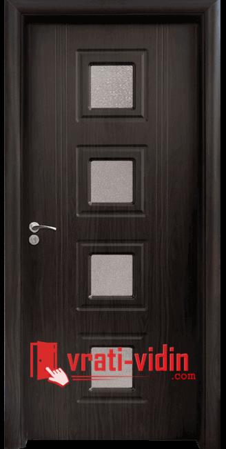 Интериорна HDF врата модел 021, цвят Венге