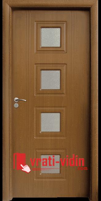 Интериорна HDF врата модел 021, цвят Златен Дъб