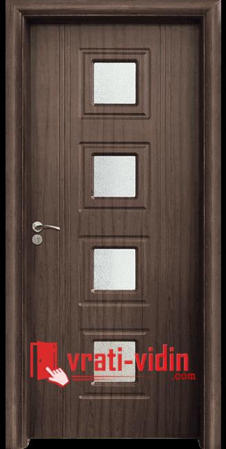Интериорна HDF врата модел 021, цвят Орех