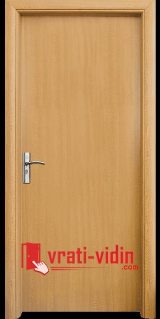 Интериорна HDF врата модел 030, цвят Светъл Дъб