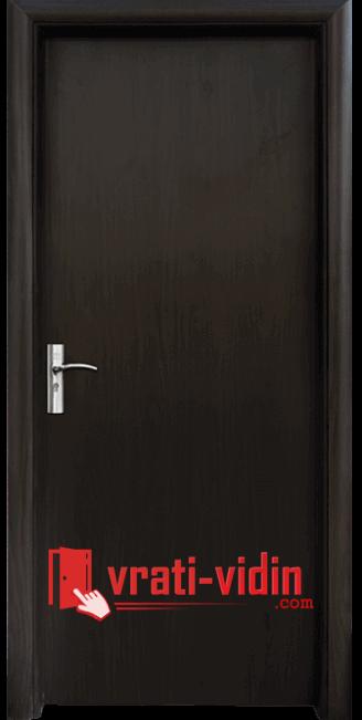 Интериорна HDF врата модел 030, цвят Венге