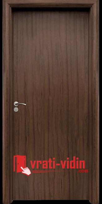 Интериорна HDF врата модел 030, цвят Орех