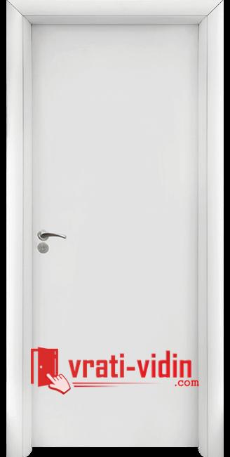 Интериорна HDF врата модел 030, цвят Бял