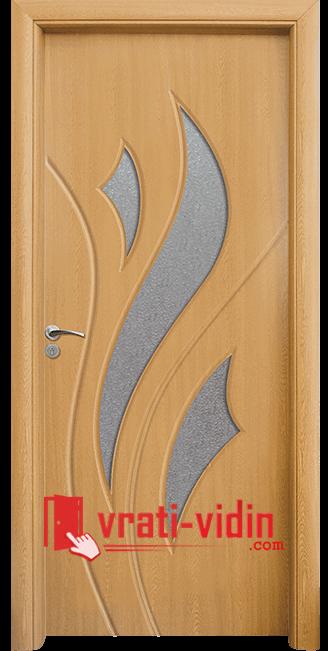 Интериорна HDF врата модел 033, цвят Светъл Дъб
