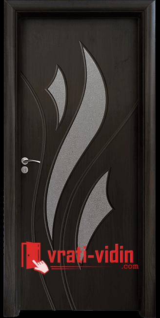 Интериорна HDF врата модел 033, цвят Венге