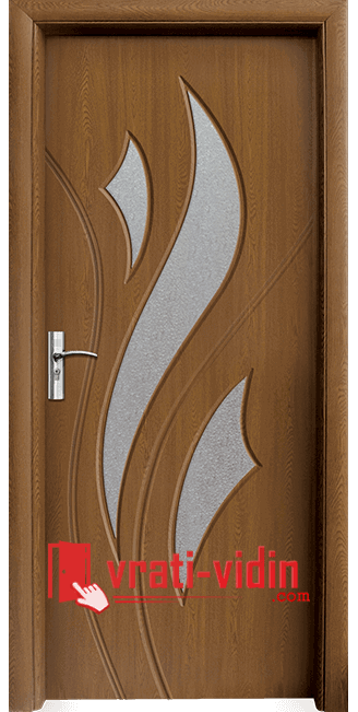 Интериорна HDF врата модел 033, цвят Златен Дъб
