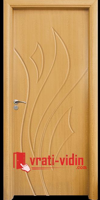 Интериорна HDF врата модел 033-P, цвят Светъл Дъб