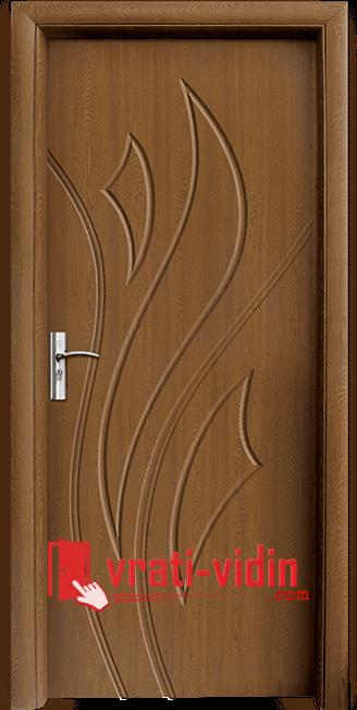 Интериорна HDF врата модел 033-P, цвят Златен Дъб