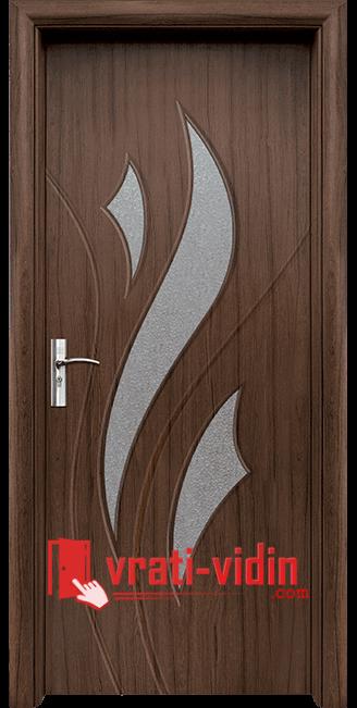 Интериорна HDF врата модел 033, цвят Орех