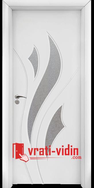 Интериорна HDF врата модел 033, цвят Бял