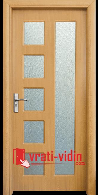 Интериорна HDF врата модел 048, цвят Светъл Дъб