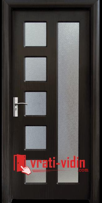 Интериорна HDF врата модел 048, цвят Венге