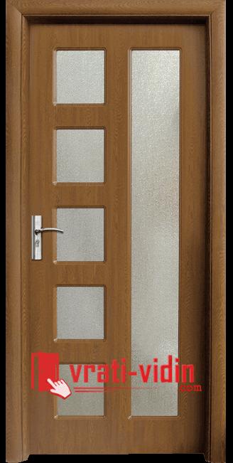 Интериорна HDF врата модел 048, цвят Златен Дъб