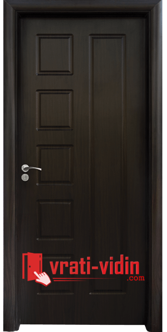 Интериорна HDF врата модел 048-P, цвят Венге