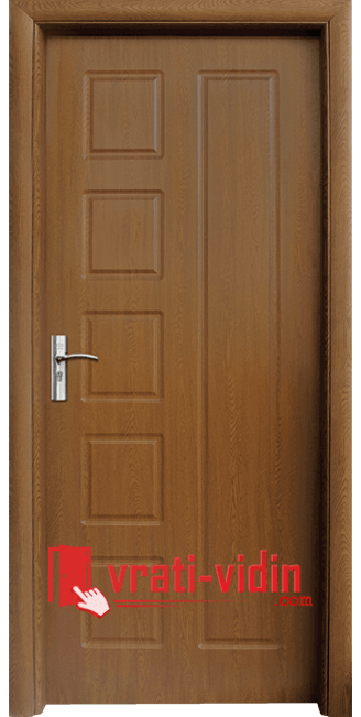 Интериорна HDF врата модел 048-P, цвят Златен Дъб