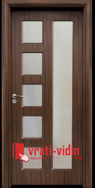 Интериорна HDF врата модел 048, цвят Орех