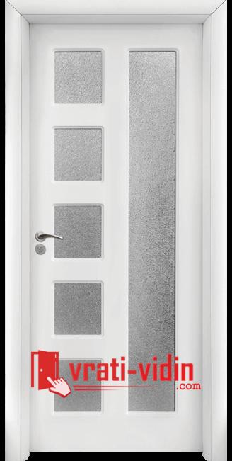 Интериорна HDF врата модел 048, цвят Бял