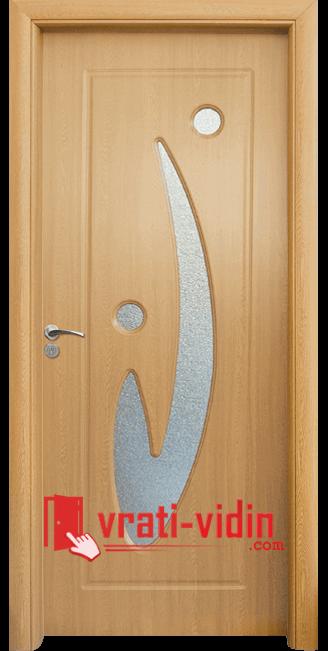 Интериорна HDF врата модел 070, цвят Светъл Дъб